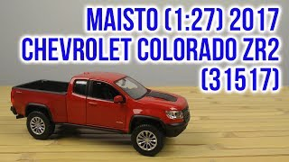 Розпакування Maisto 1:27 2017 Chevrolet Colorado ZR 2 Червоний 31517