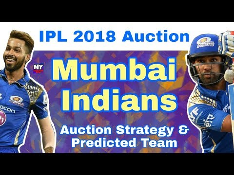 IPL 2018 - Mumbai Indians : Predicted Team & Auction Strategy |IPL Auction