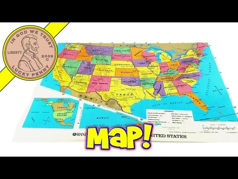 Rand McNally World and US State Map Food Place Mat