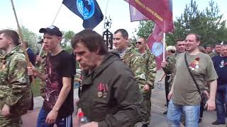 """9 мая 2019 год.Бессмертный полк.Шествие к напольному кладбищу. МГОО """"Ветераны Чеченского Конфликта"""""""