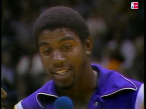 Magic Johnson's 1st Game as NBA Player