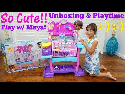 Toy Channel: Doctor Pretend Playtime. A Baby Nursery Playset. Doc McStuffins Baby All in One Nursery