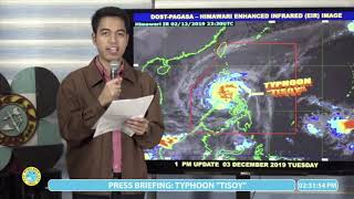 Pagasa 2 p.m. update on Typhoon Tisoy