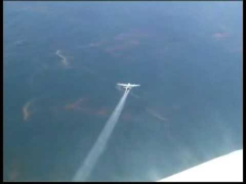Deepwater Horizon Response Spray Over Oil