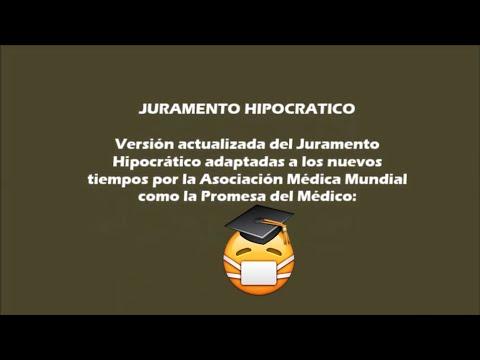 JURAMENTO HIPOCRATICO MODERNO en español Actualizado 2020