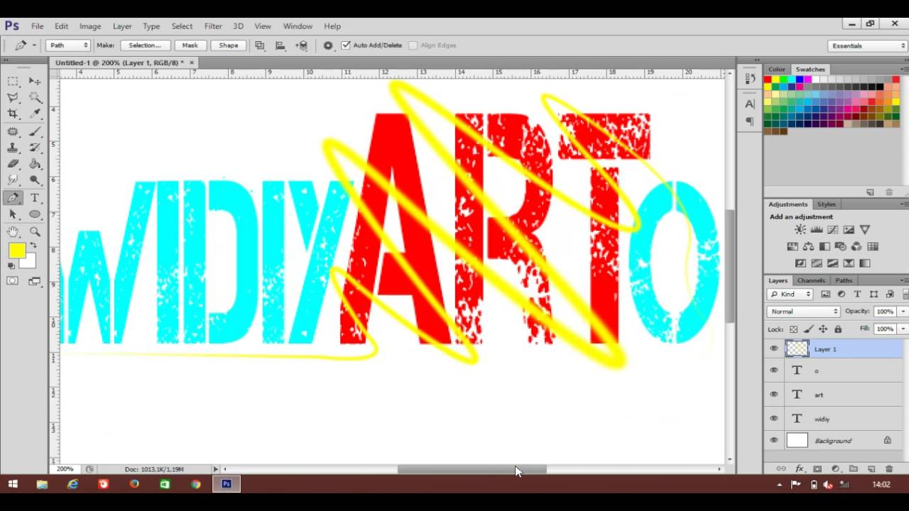 Tutorial photoshop teks keren youtube tutorial photoshop teks keren baditri Choice Image