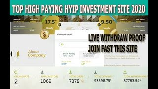 Live Withdraw Proof Coingoldspot||New Hourly Paying Hyip Investment Site Launched 2020 in hindi/Urdu