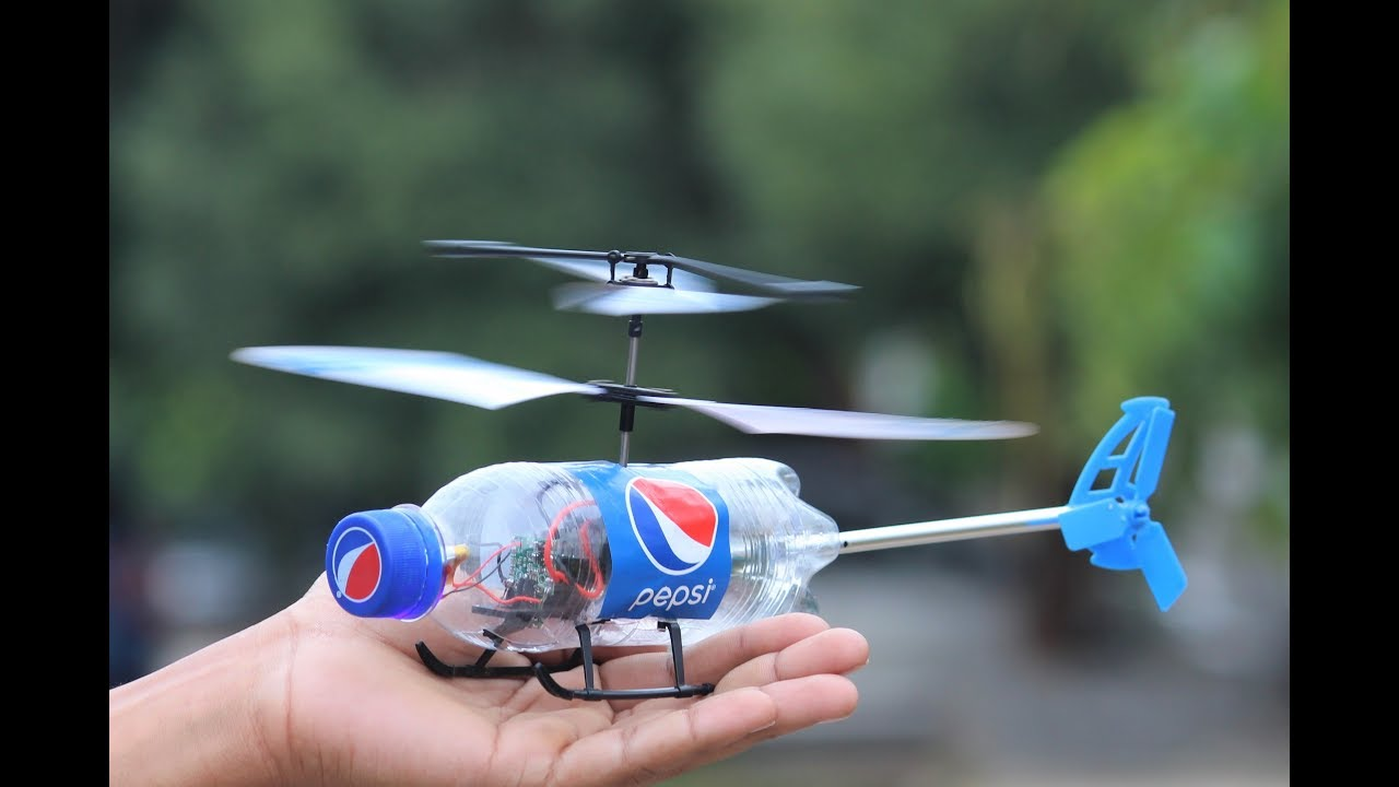 How To Make a Helicopter  Flying Bottle Helicopter  YouTube