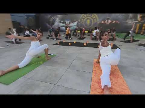International Day of Yoga at Gold's Gym Jordan Rooftop