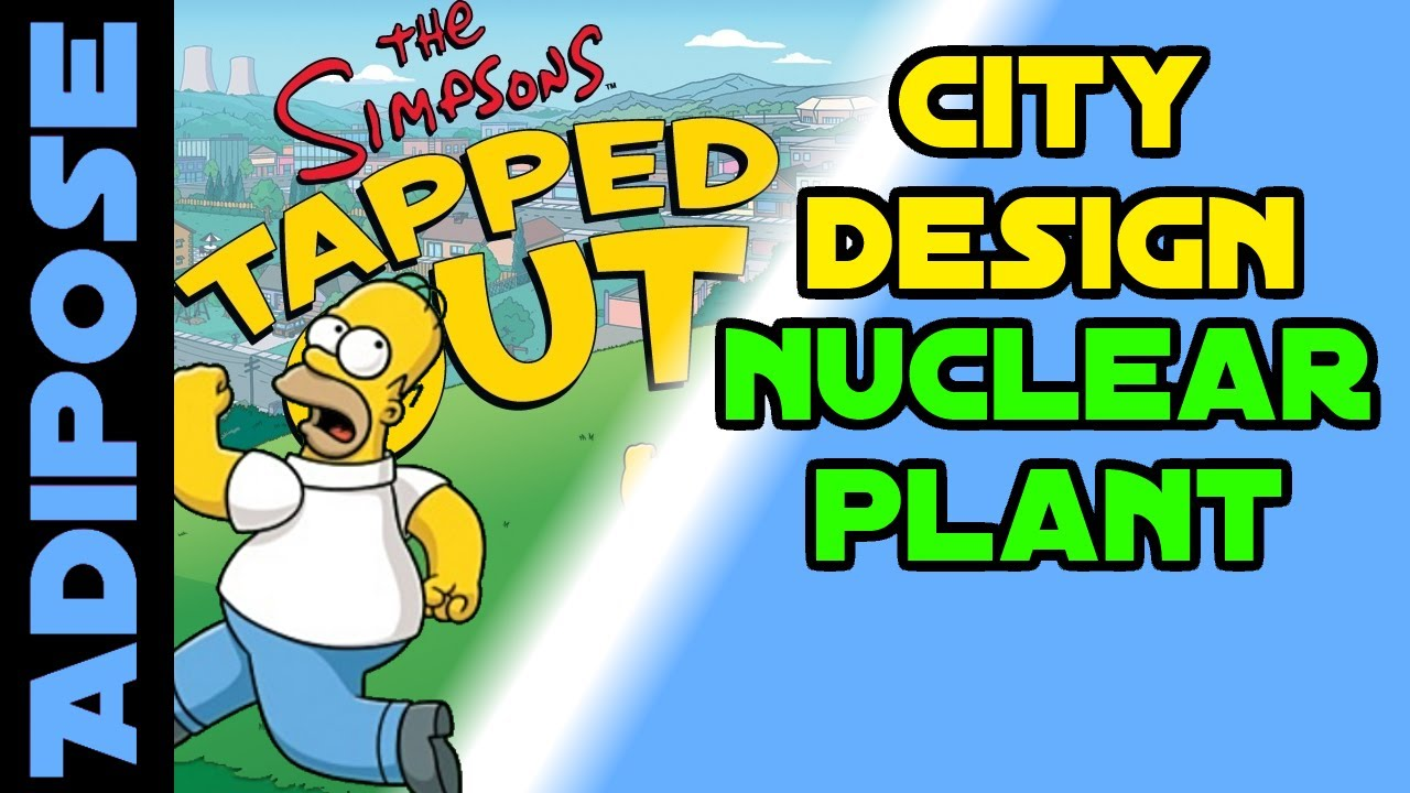 Simpsons Tapped Out City Design Nuclear Power Plant Youtube Layout