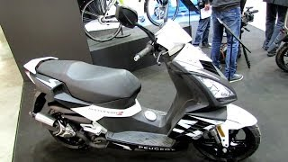 2014 Peugeot Speedfight 3 50 2T Scooter Walkaround - 2013 EICMA Milano Motorcycle Exhibition