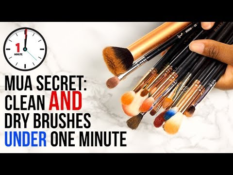 The SECRET SAUCE: Clean AND dry makeup brushes under ONE minute