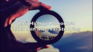 Focus Lofi Hiphop Beats Interval Studying Music 25x5min 4 Rounds of Pomodoro