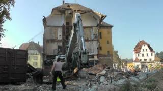 Abriss Bahnhofhotel in Schwäbisch Gmünd