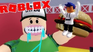 Roblox - DEVORADO POR UN GORDO GIGANTE ||  Escape The Diner Obby