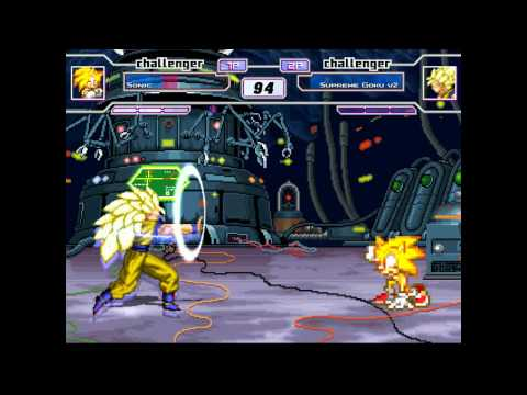 Mugen: Super Sonic Vs.  Super Saiyan 3 Goku