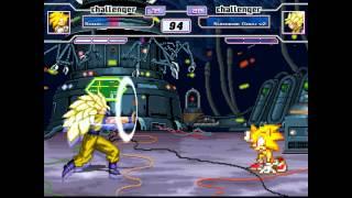 Mugen: Super Sonic Vs.  Super Saiyan 3 G...