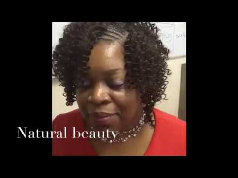 Invisible Part Sew In Curly Hair How To| sew in curly w...