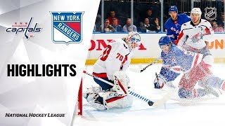 NHL Highlights | Capitals @ Rangers 11/20/19