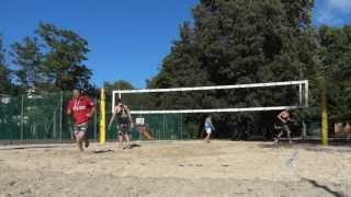 Beach Volleyball amateurs getting owned by Huber/Seidl