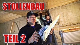 Holzdecke im Bergbaustollen ⚒🧰 Youtube Base Projekt | ItsMarvin