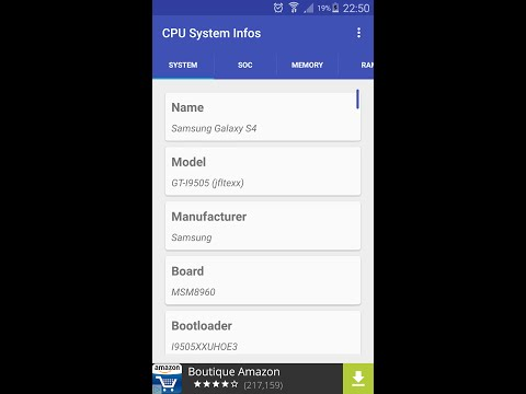 CPU Hardware and System Info for Android