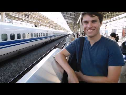 Kyoto to Tokyo on shinkansen train Scott Donna and christian adventures