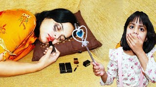Ashu Messes up Mummy Makeup with Magic Wand Toy | Katy Cutie Show