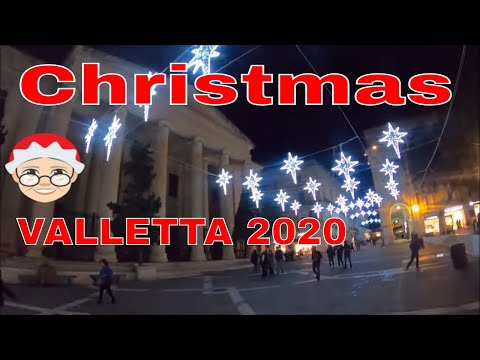 Valletta Christmas Lights semi-shutdown 2020,  MALTA