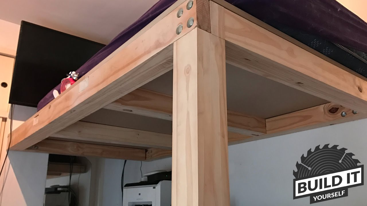 Loft bed construction diy build it yourself 4k youtube for How to make a loft room