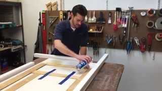 Placing CHENG Concrete Countertop Forms with Spray Adhesive