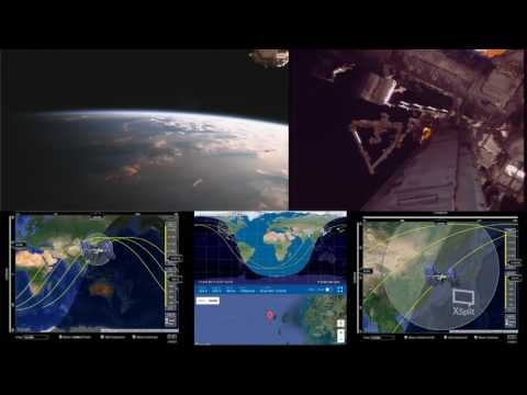 Orbital Sunset Over Asia - ISS International Space Station Live With 2 Cams And Tracking Data - 23