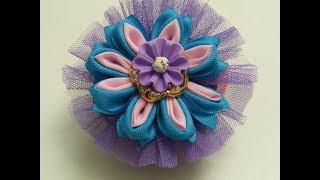 Hermosa Flor Doble petalo para Coletas, diademas, ganchos o Balacas