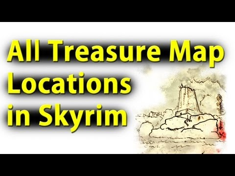 Skyrim All Treasure Map Locations!