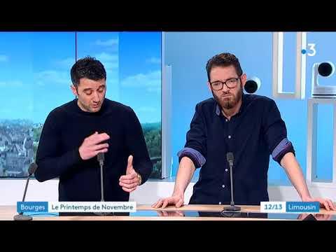 Le groupe Novembre sur le plateau de France 3 Limousin