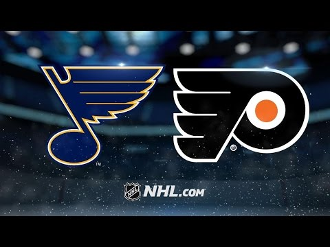 Hutton, Agostino lead Blues past Flyers, 2-0
