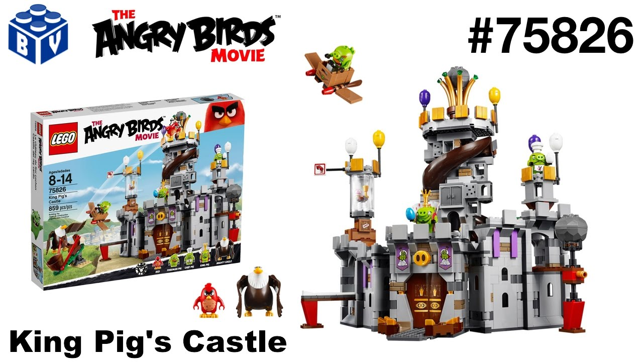 Lego 75826 The Angry Birds Movie King Pigs Castle Youtube