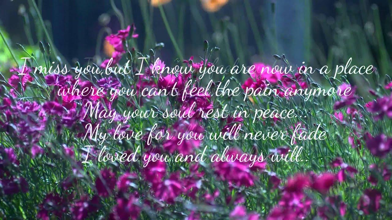 In Loving Memory Of My Husband Youtube