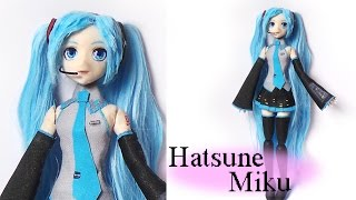Hatsune Miku Inspired Doll (poseable) - Polymer Clay Tutorial