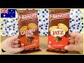 Arnott's Ginger Nut & Jatz Biscuits Chocolate Blocks Food Tasting Review! | Birdew Reviews
