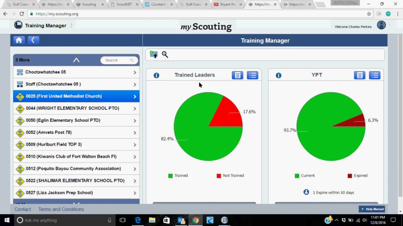 My Scouting org How to pull a training report for your scout unit