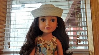 How to Make a Sailor's Cap for Dolls Part 1