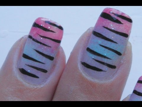 Faded Tiger Nail Art Tutorial