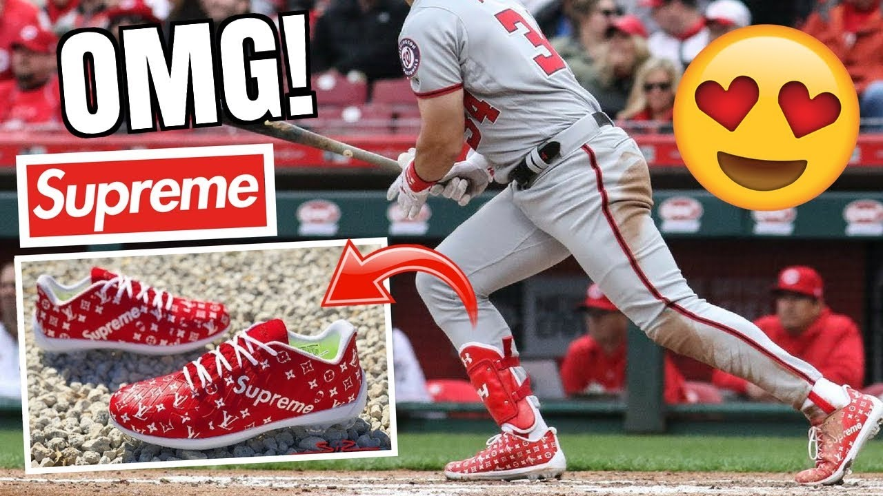 f638ab8f37a2 These RARE Custom Baseball Cleats Are INSANE! *SUPREME LIMITED EDITION*