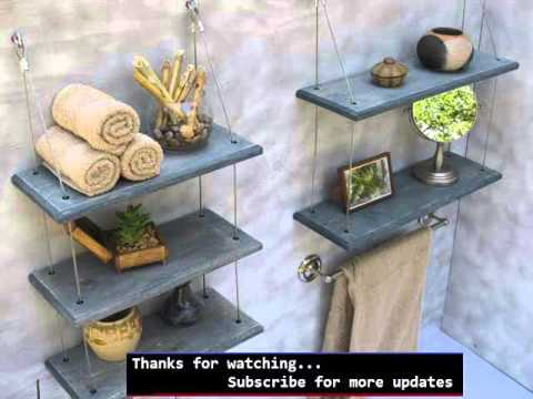 Wall Storage Shelves Picture Ideas | Shelving Bathroom - YouTube