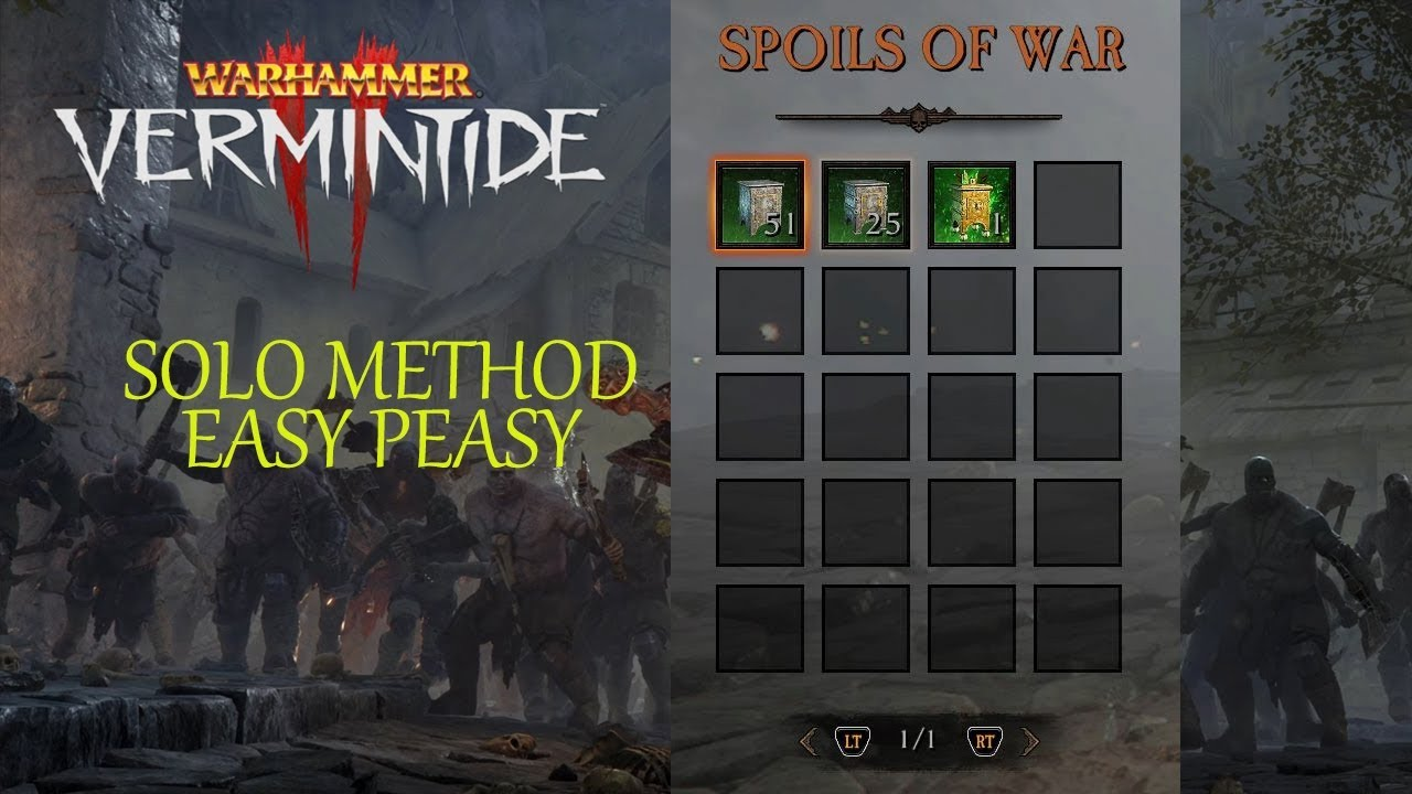 WARHAMMER VERMINTIDE 2 GLITCH: SUPER EASY/ BEST WAY TO FARM RED ITEMS AND  THE BEST LOOT 100%