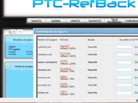 dinero ya   gane dinero extra por ser referido con ptc-refback.com