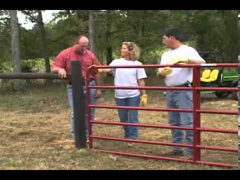 How To Hang A Metal Field Gate Youtube