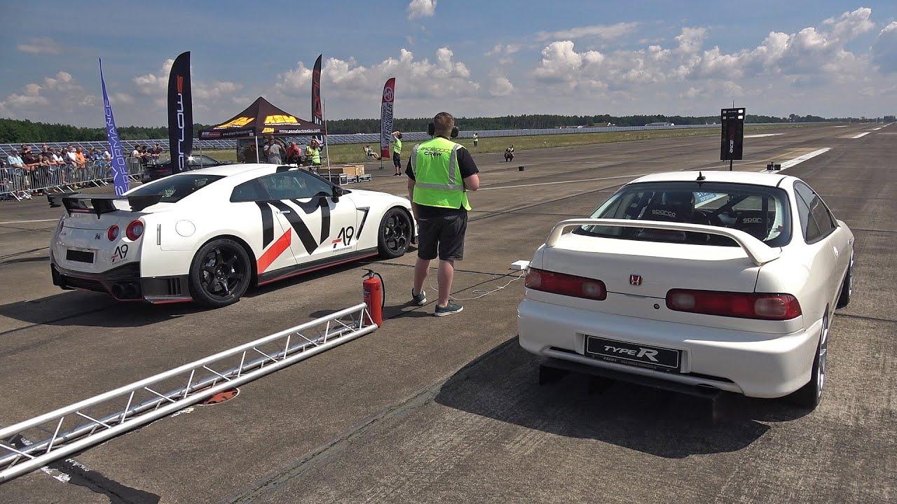 Download Honda Integra Type R (880HP) vs Nissan GT-R R35 Nismo A9 Performance (1400HP)