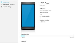 hTC Sync manager connect (worked for me)